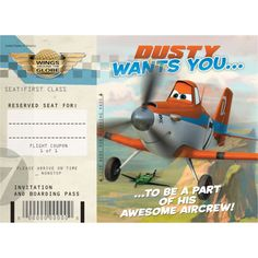 Planes Invitations & Thank You Notes