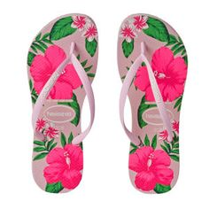 Havaianas Slim Floral Flip Flops - Crystal Rose | Free UK Delivery*