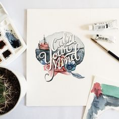 I love typography Watercolor Typography, Beautiful Lettering, Drawing Letters, Types Of Lettering, Canvas Quotes, Bullet Journal Inspiration, Journal Ideas, Typography Letters, Typography Inspiration