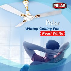 Uniquely designed ceiling fan by Polar to increase the charm of your interior. #Polar #Fan #CeilingFan #WintopCeilingFan Retro Look, Pearl White, Ceiling Fan, Things To Come, Interior, Design, Ceiling Fans, Indoor, Ceiling Fan Pulls