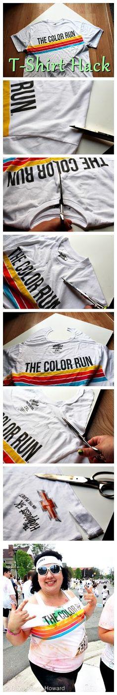 Dawn Marie Howard: Color Run - T-Shirt Hack
