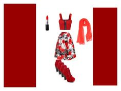 """red lovers"" by vishalatomar on Polyvore featuring Sans Souci, WearAll, Blumarine, MAC Cosmetics and love"