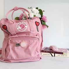 4358e48c46f Fjallraven Kanken Pink And Air Blue Backpack