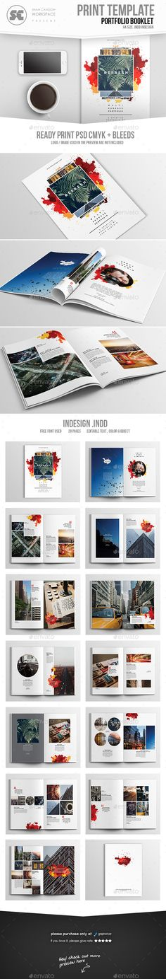 InDesign portfolio templates for corporate catalog, agency brochure, company booklet  • Only available here! → https://graphicriver.net/item/multipurpose-creative-portfolio/17246633?ref=pxcr
