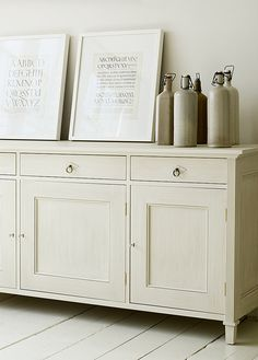 Sideboard // one color. White brings out shadows