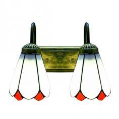 Méditerranéen Style Deux Lampes Art Verre Tiffany Conçu Applique Murale  Moderne Wandlampen, Led Wandleuchte
