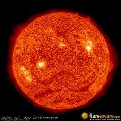 The hourly sun (at 02:44 pm  UTC on 19 February 2013)