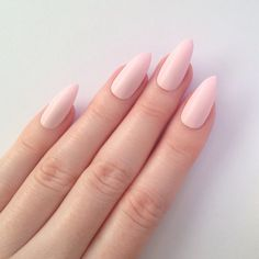 Matte Pastel Pink Stiletto nails, Nail designs, Nail art, Nails,... ($17) ❤ liked on Polyvore featuring beauty products, nail care, nail treatments and nails