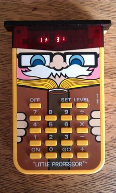 I had one of these when I was a kid. Never got a damned Speak-n-Spell though, which is what I really wanted.