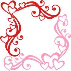 Silhouette Design Store: heart corner flourishes