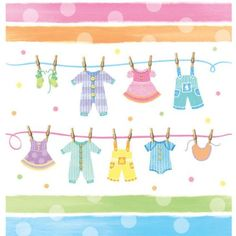 Amazon.com: Baby Shower Clothes - Plastic Tablecover: Home & Kitchen