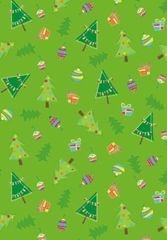 Christmas tree scrapbook paper - green