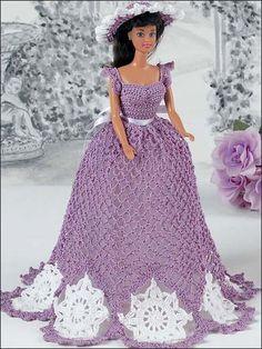 I modelli per vestiti di Barbie da realizzare all'uncinetto