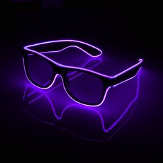d4901ed0fa0b Buy online Flashing Glasses EL Wire LED Glasses Glowing Party Supplies Lighting  Novelty Gift Bright Light Festival Party Glow Sunglasses o.