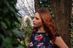 Nature, redhead, flowers