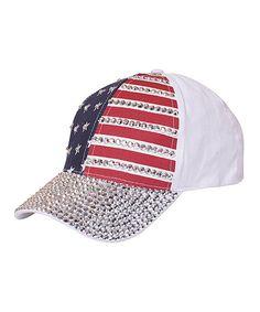 cc4d5792d05 USA Flag Bling Bling Baseball Cap