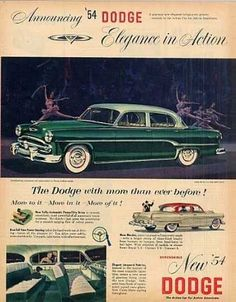 vintage car ads 1950s 1960s | Vintage Car Advertisements of the 1950s (Page 110)