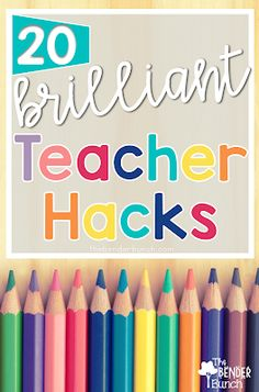 The Bender Bunch: 20 Brilliant Teacher Hacks You'll Love! Bookmark - tape ribbon in back of notebook Classroom Hacks, Classroom Organisation, Teacher Organization, Kindergarten Classroom, School Classroom, School Teacher, Classroom Management, Classroom Helpers, Organized Teacher