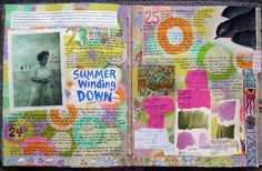 Beautiful journal page...love the concept of collage. Do this on a canvas?
