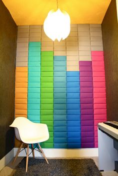 Cute sound-proofing idea for music room or recording studio