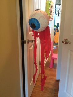 Floating eye of death piñata. Aquabats party! Made by me :)