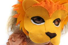♥ I am a lion mask pattern for you to print. If you want a finished item- this aint it! Watch for your link when you hit pay. Download. Print. And get mask sewing straight away!!! ♥ Make this roarsome, 3D lion mask with our easy to follow sewing pattern, a few pieces of felt and some