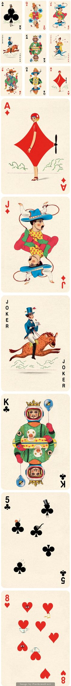 Playing Cards Illustrations by Jonathan Burton   -este vendría siendo mi pin favorito del 2015-