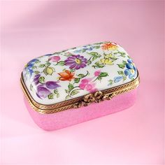 Limoges Pink Summer Garden with Flowers Box