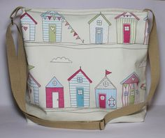 Purse medium sized messenger bag nautical by Enchantingcrafts, £21.50