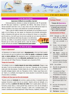 PARÓQUIAS DO PORTO SANTO: Boletim do mês de Março