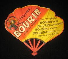 Vintage Paper Fan Quinquina Bourin on Collectors Quest