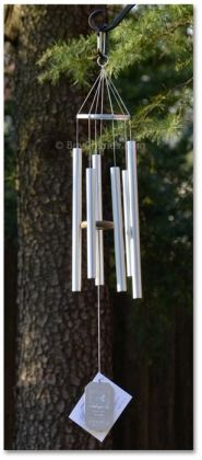 """7//8/"""" Dia Aluminum Tubes Silver Grace Note Wind Chime Island Melody 36 inch 5-S"""