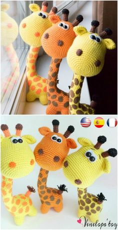 Amigurumi Crochet Adorable Crochet Giraffe Patterns – The Cutest Ideas - Are you looking for a Crochet Giraffe Free Pattern? You came to the right place! We have lots of ideas and the cutest creations you will love. Crochet Sheep, Crochet Giraffe Pattern, Crochet Animal Patterns, Stuffed Animal Patterns, Crochet Patterns Amigurumi, Crochet Blanket Patterns, Cute Crochet, Amigurumi Giraffe, Giraffe Toy