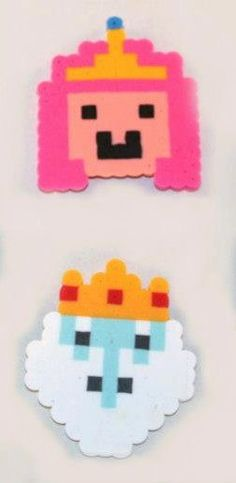 Princess Bubblegum Ice King Adventure Time Perler beads by Piratekiki