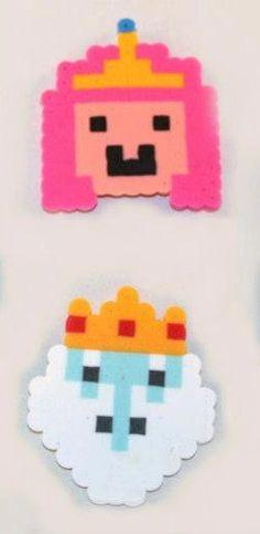 Princess Bubblegum Ice King Adventure Time Perler beads by Piratekiki