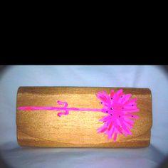 "Pink carnation ""shop for the cure"" sand evening bag www.bellaizabags.com"