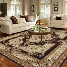 Primeval Coffee/ Ivory Oriental Rug (5'3 x 7'7) - Overstock™ Shopping - Great Deals on Alexander Home 5x8 - 6x9 Rugs