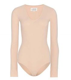 Jumpsuits and Rompers 3009: Maison Martin Margiela V-Neck Long-Sleeve Bodysuit -> BUY IT NOW ONLY: $99.99 on eBay!