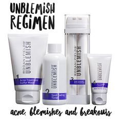 Unblemish Rodan And Fields, Acne Blemishes, Shampoo, Personal Care, Bottle, Self Care, Personal Hygiene, Flask, Jars