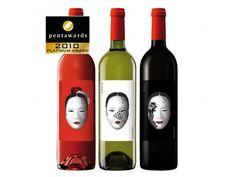 wine bottles w/ portrait design