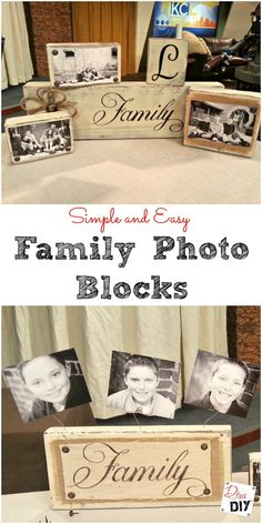 These easy handmade photo blocks are perfect for everyone on your gift list. Add photos or a family name for a personal touch.