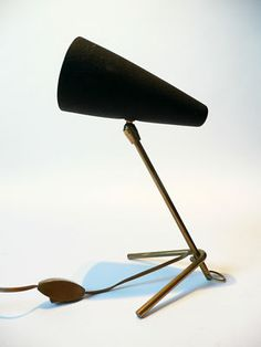 Tripod table lamp in style of Boris Lacroix 1950s