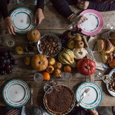 Happy to be sharing my tips for hosting a relaxed and potluck Thanksgiving dinner on @food52 today... As well as a recipe for pear and chestnut pie. Xx #tistheseason #frommydiningtable