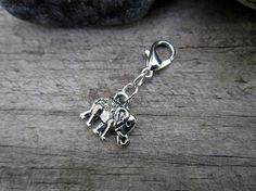 Silver Elephant Charm  Midori Charm  by PohakantenJournals on Etsy