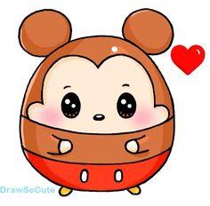 And here is a cute little tubby boy to go with the cute tubby girl picture . Doodles Kawaii, Cute Kawaii Drawings, Kawaii Art, Kawaii Anime, Cartoon Drawing Tutorial, Cartoon Girl Drawing, Kawaii Disney, Disney Art, Cartoon Drawings Of Animals