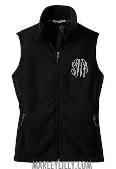 GOT a great gift card from here for CROSSED OFF- BUT LOVE THIS SHOP STILL..christmas from mom and adam and the stuff came it, and looks great! I LOVE that it has my NEW initials on it :) Monogrammed Black Fleece Vest