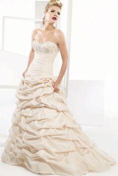 Ball Gown Sweetheart Court Train Taffeta Wedding Dress with Appliques