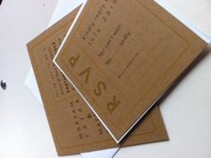 Set Modern Square Wedding Invitations with rsvp card by 2beUdesign, $3.75