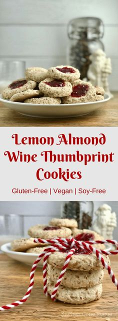 Gluten-Free Vegan Soy-Free Wine Thumbprint Cookies | Kitchen Gone Rogue