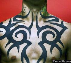 Tribal Chest Tattoo